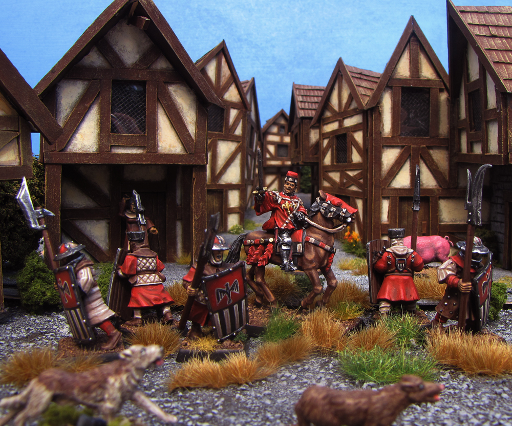 Rallying the City Watch in Bretonnia from Games Workshop and Perry Miniatures painted by Neldoreth - An Hour of Wolves & Shattered Shields