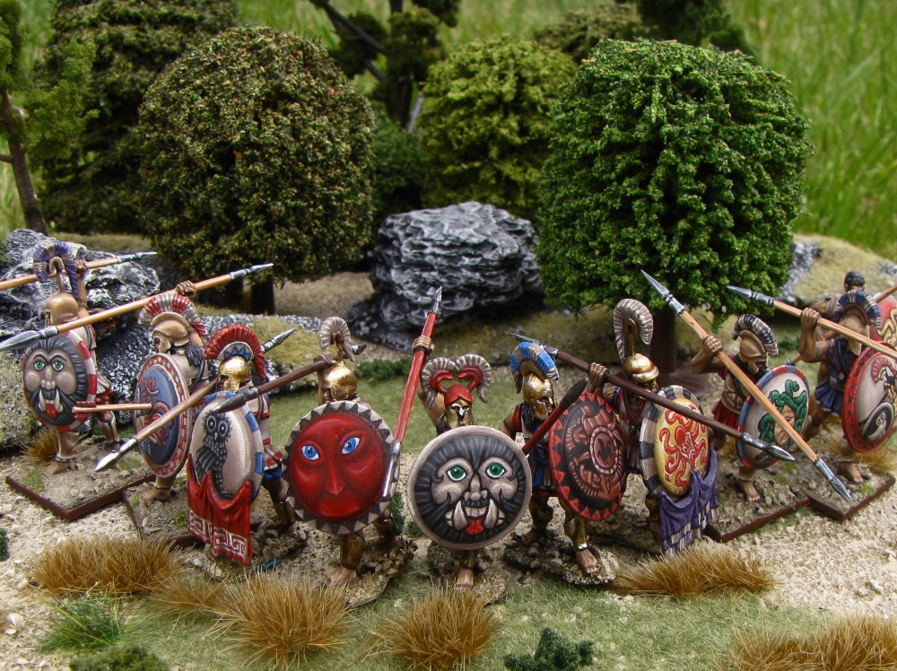 Hoplites Defend Athens in 28mm miniatures from Warlord Games Hail Caesar painted by Neldoreth - An Hour of Wolves & Shattered Shields