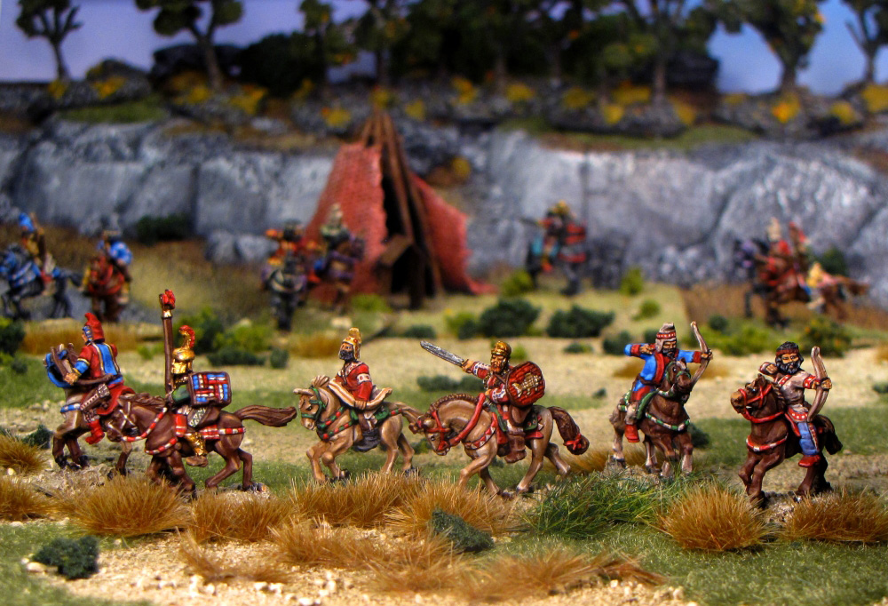 Scythians on the Hunt from Old Glory Miniatures painted by Neldoreth - An Hour of Wolves & Shattered Shields