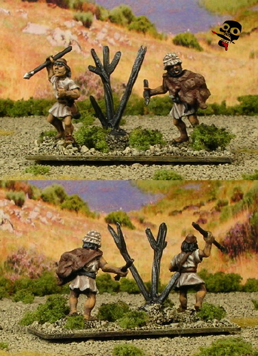 15mm Ancient Greek psiloi from Xyston Miniatures painted by Neldoreth - An Hour of Wolves & Shattered Shields