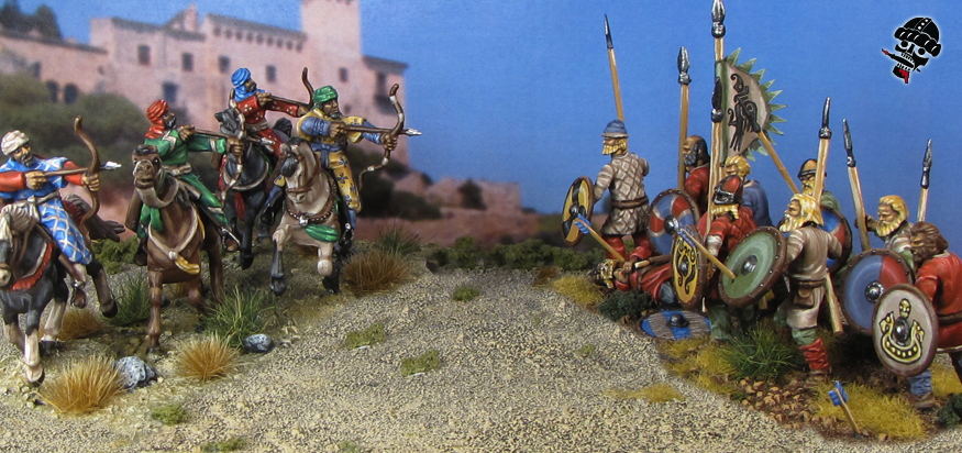 Al-Andalus Andalusian Light Horse and Vikings do battle from HaT and Wargames Factory Miniatures painted by Neldoreth - An Hour of Wolves & Shattered Shields
