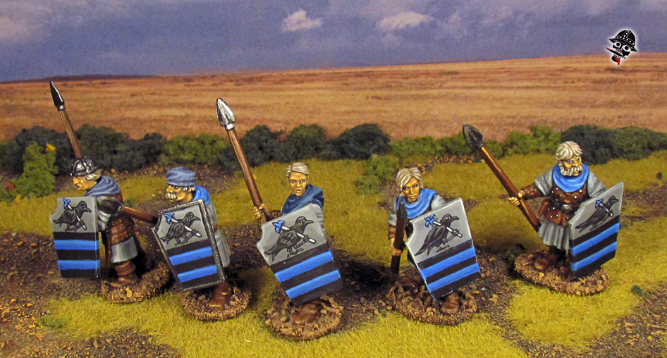Bretonnian Women Men at Arms from Oathmark Miniatures painted by Neldoreth - An Hour of Wolves & Shattered Shields