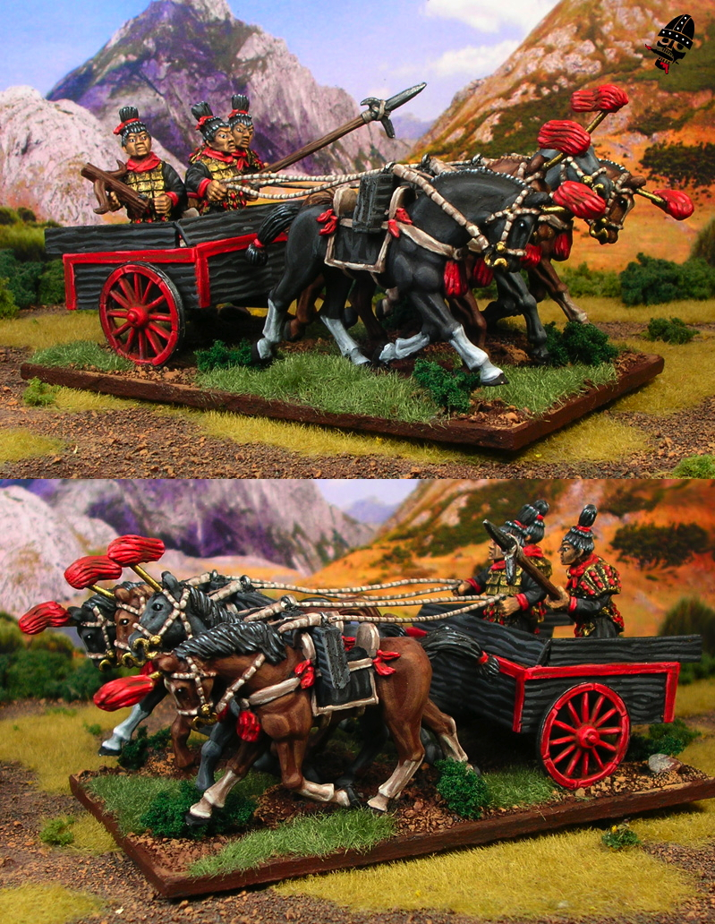 Chinese Warring States converted Qin Chariot from Renegade Miniatures painted by Neldoreth - An Hour of Wolves & Shattered Shields