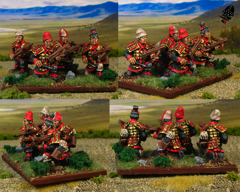 Chinese Warring States crossbowmen from Renegade Miniatures painted by Neldoreth - An Hour of Wolves & Shattered Shields