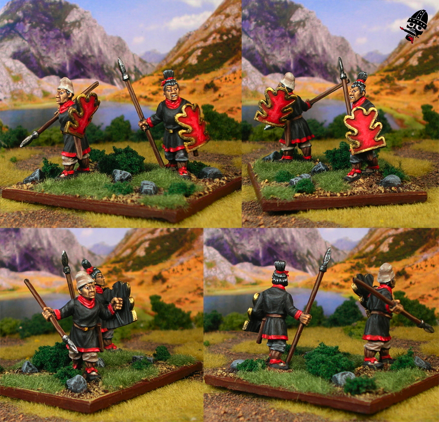 Chinese Warring States skirmishers from Renegade Miniatures painted by Neldoreth - An Hour of Wolves & Shattered Shields