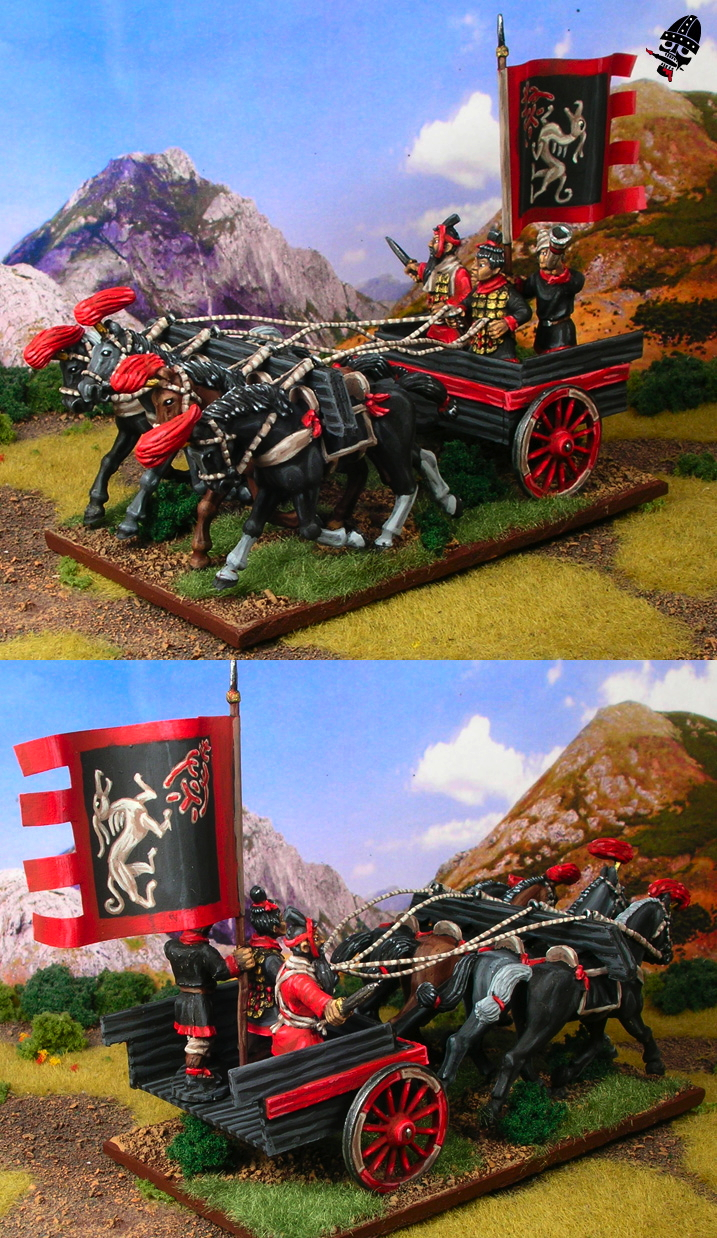 Chinese Warring States converted chariot general from Renegade Miniatures painted by Neldoreth - An Hour of Wolves & Shattered Shields