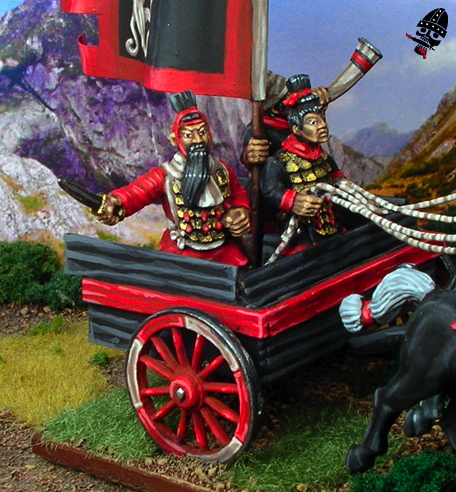 Chinese Warring States chariot general from Renegade Miniatures painted by Neldoreth - An Hour of Wolves & Shattered Shields