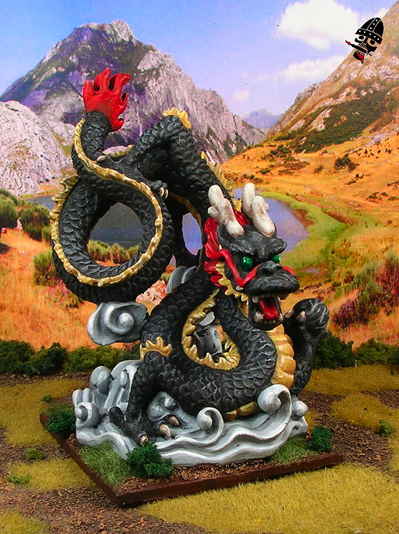 Chinese Warring States mythical Chinese dragon from Uknown Chinatown Gift Shop figure painted by Neldoreth - An Hour of Wolves & Shattered Shields