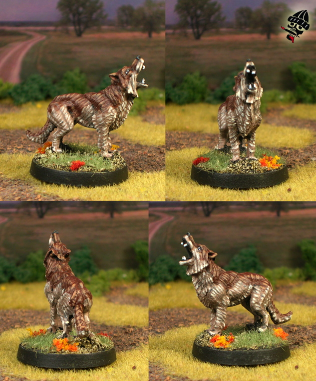 Dire Wolf from Unknown painted by Neldoreth - An Hour of Wolves & Shattered Shields
