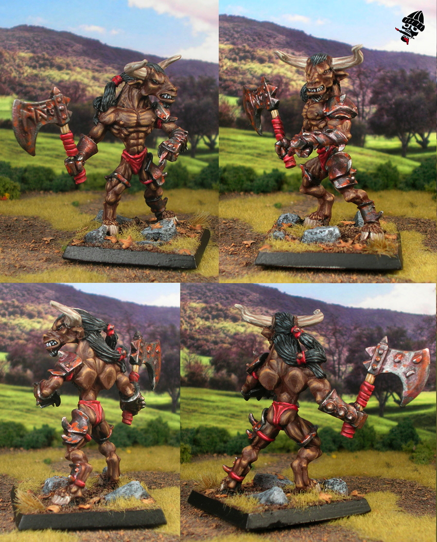 Minotaur from Reaper Miniatures painted by Neldoreth - An Hour of Wolves & Shattered Shields