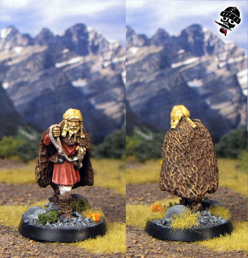 Dark age dog handler from Gripping Beast Miniatures painted by Neldoreth - An Hour of Wolves & Shattered Shields