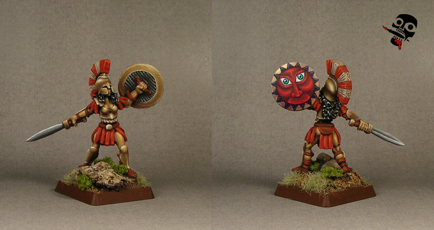 Female Hoplite from Reaper Miniatures painted by Neldoreth - An Hour of Wolves & Shattered Shields