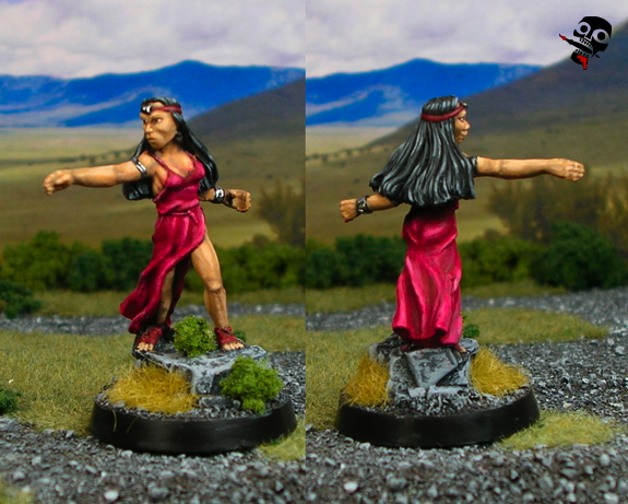 Female Druid from RAFM Miniatures painted by Neldoreth - An Hour of Wolves & Shattered Shields