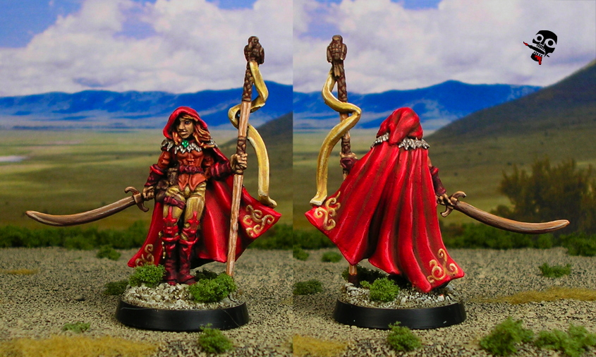 Druid from Reaper Miniatures painted by Neldoreth - An Hour of Wolves & Shattered Shields