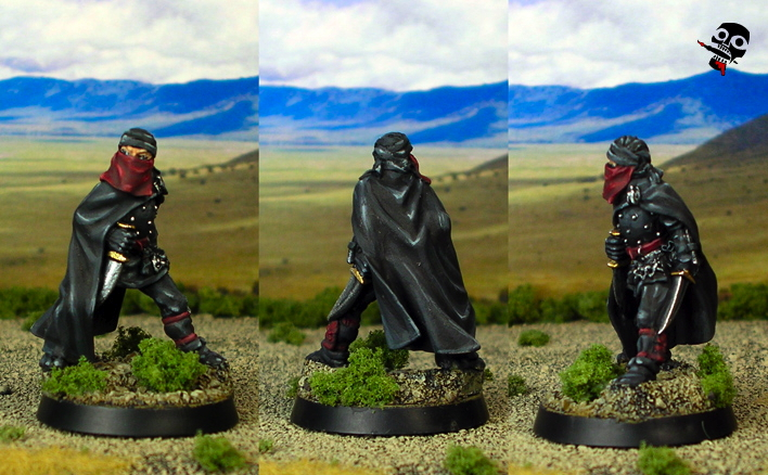 Ninja from Reaper Miniatures painted by Neldoreth - An Hour of Wolves & Shattered Shields