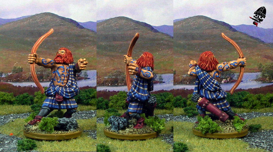 Highland Archer from Reaper Miniatures painted by Neldoreth - An Hour of Wolves & Shattered Shields