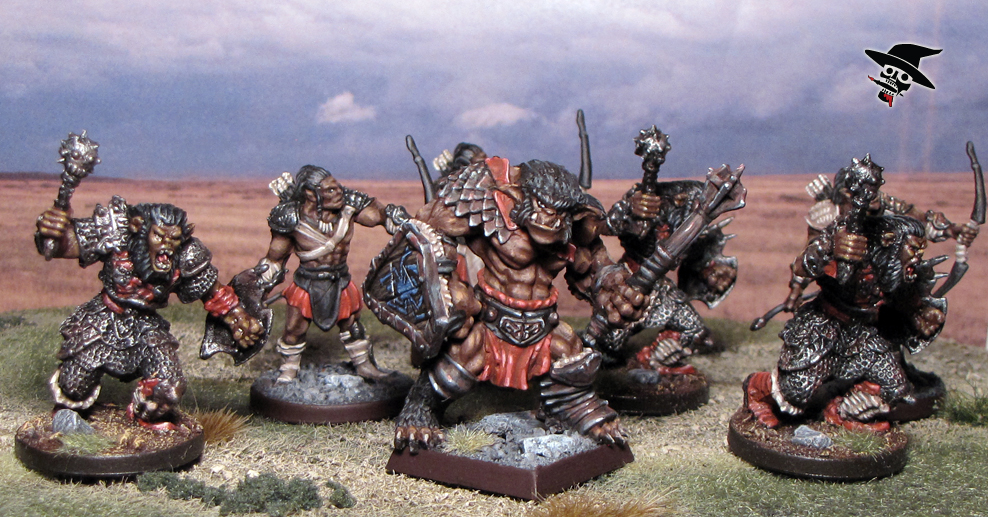 Bugbear Clan from Reaper Miniatures and Wizards of the Coast painted by Neldoreth - An Hour of Wolves & Shattered Shields
