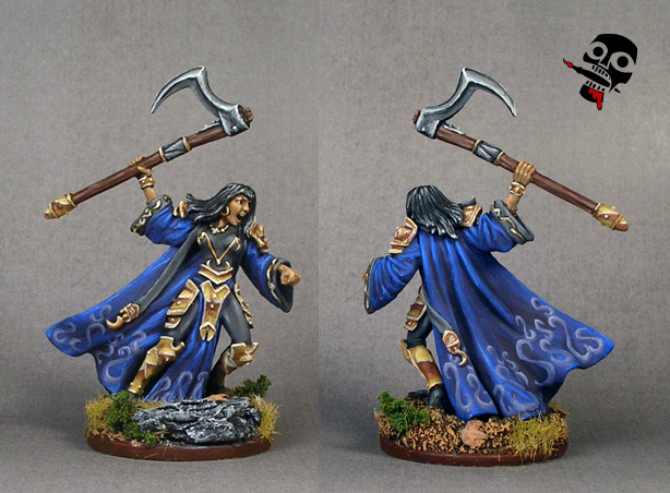 Cleric with scythe from Reaper Miniatures painted by Neldoreth - An Hour of Wolves & Shattered Shields