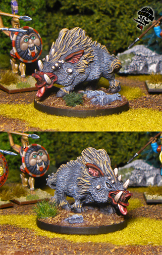Dire Boar from Reaper Miniatures painted by Neldoreth - An Hour of Wolves & Shattered Shields