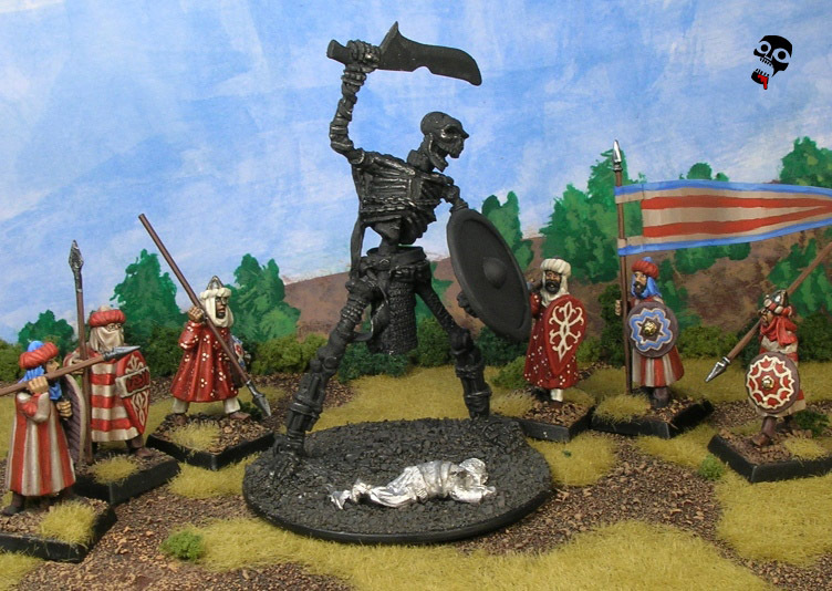 Giant skeleton from Reaper Miniatures painted by Neldoreth - An Hour of Wolves & Shattered Shields