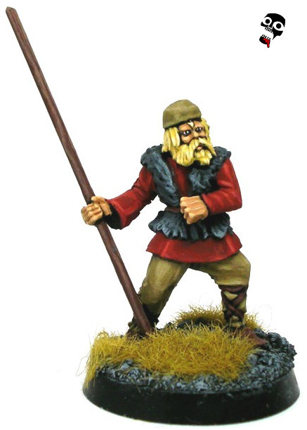 Old Glory Viking Bondi as European Monk from Old Glory painted by Neldoreth - An Hour of Wolves & Shattered Shields