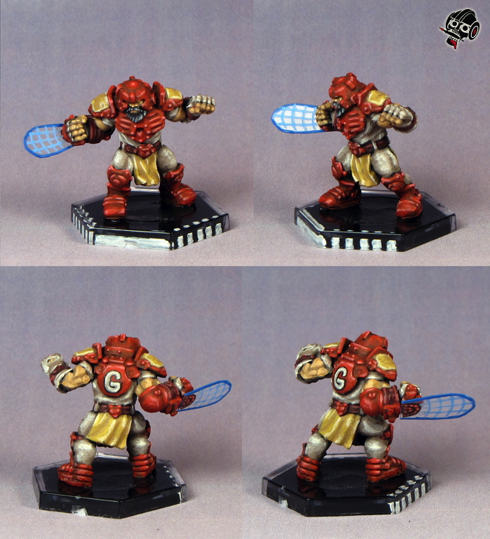 DreadBall: Nidavellir Flames - not the Midgard Delvers -  from Mantic Games painted by Neldoreth - An Hour of Wolves & Shattered Shields