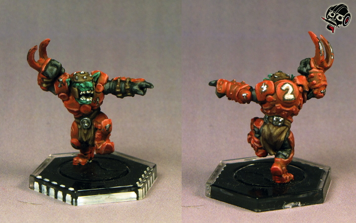 Klaxus Redbombers - not the Greenmoon Smackers - Dreadball team: Sreecat the Screetcher from Mantic Games painted by Neldoreth - An Hour of Wolves & Shattered Shields