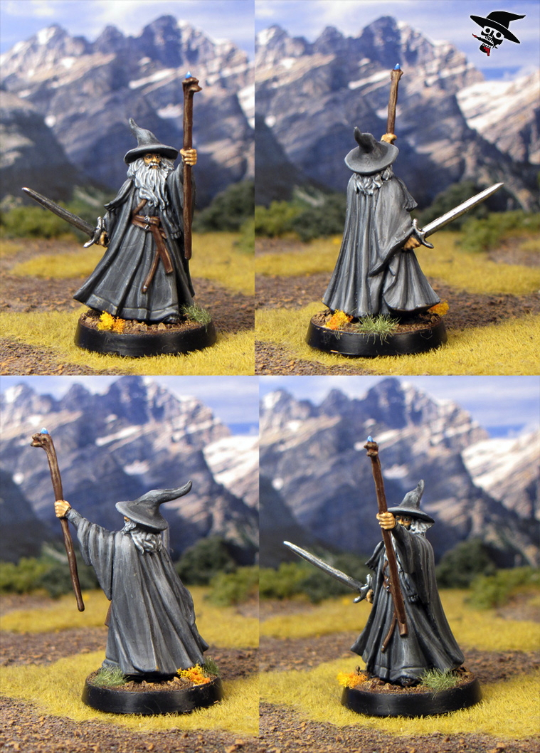 Gandalf the Gray from Games Workshop painted by Neldoreth - An Hour of Wolves & Shattered Shields