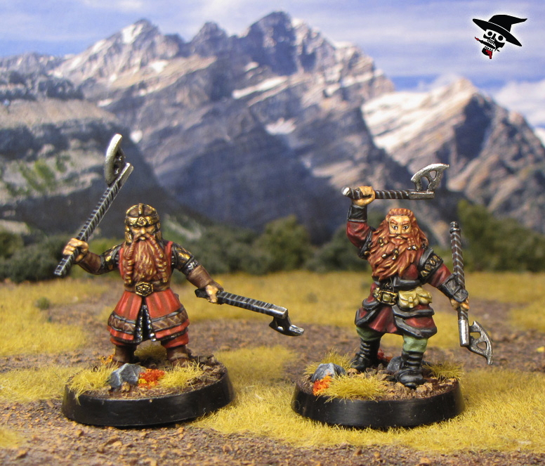 Father and son, Gimli and Gloin together from Games Workshop painted by Neldoreth - An Hour of Wolves & Shattered Shields
