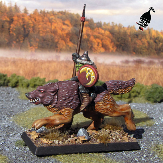 Battle Masters Goblin Wolf Rider for Warhammer from Games Workshop painted by Neldoreth - An Hour of Wolves & Shattered Shields