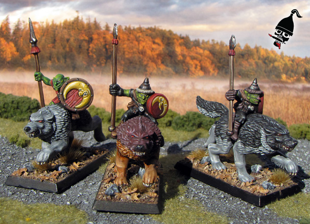 Battle Masters Goblin Wolf Riders for Warhammer from Games Workshop painted by Neldoreth - An Hour of Wolves & Shattered Shields