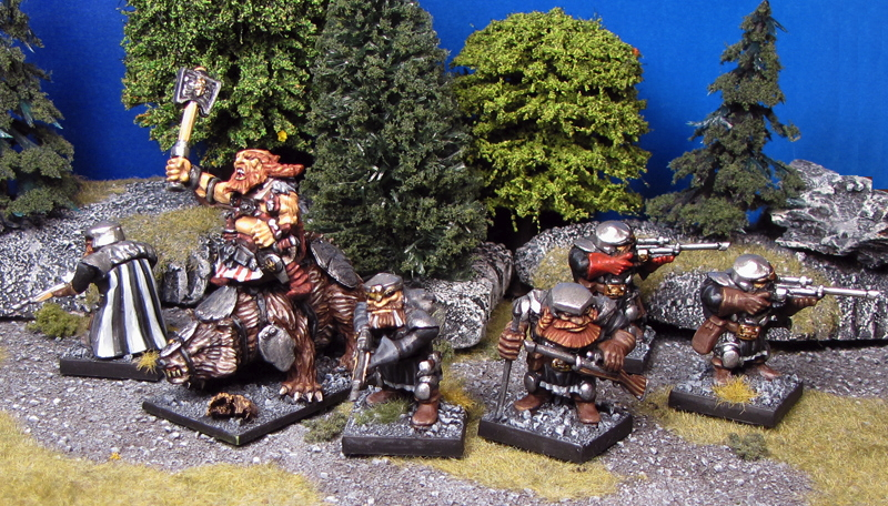 Week 3: Gleph McCluggin And His Shooters from Mantic Games painted by Neldoreth - An Hour of Wolves & Shattered Shields
