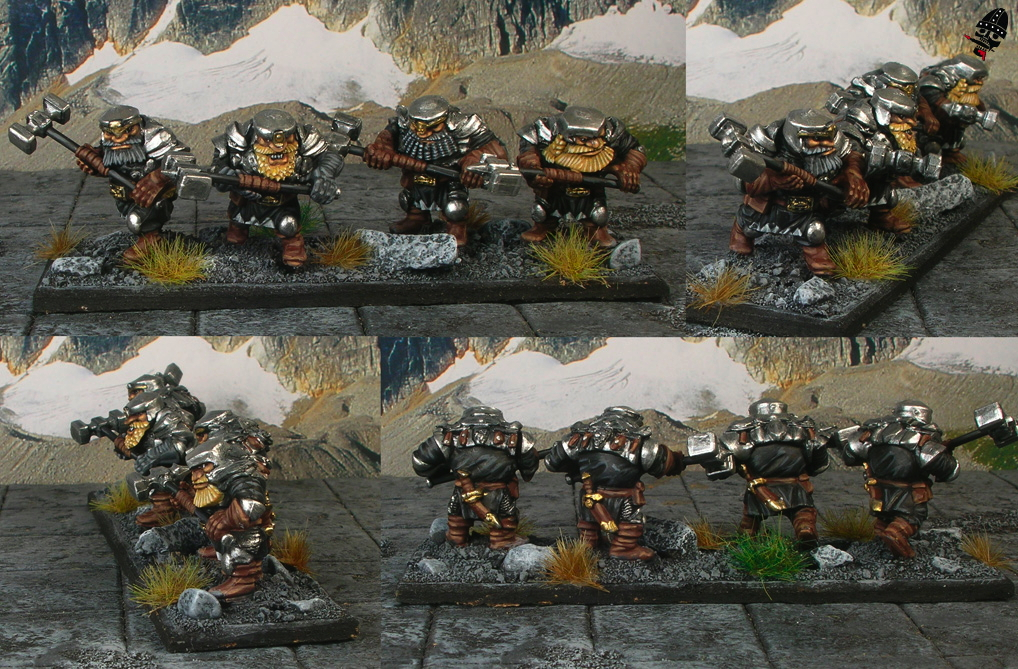 Dwarf Shieldbreakers - shield breakers from Mantic Games painted by Neldoreth - An Hour of Wolves & Shattered Shields