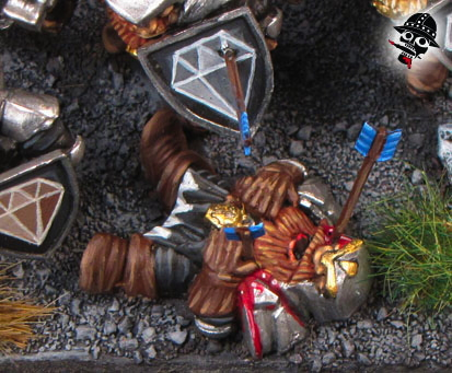 Dead dwarf from Mantic Games painted by Neldoreth - An Hour of Wolves & Shattered Shields