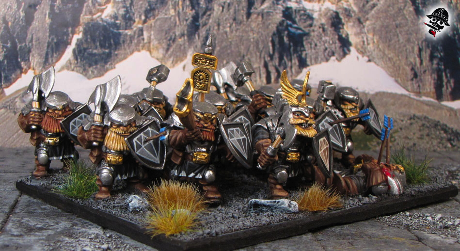 Mountain Dwarves from Mantic Games painted by Neldoreth - An Hour of Wolves & Shattered Shields