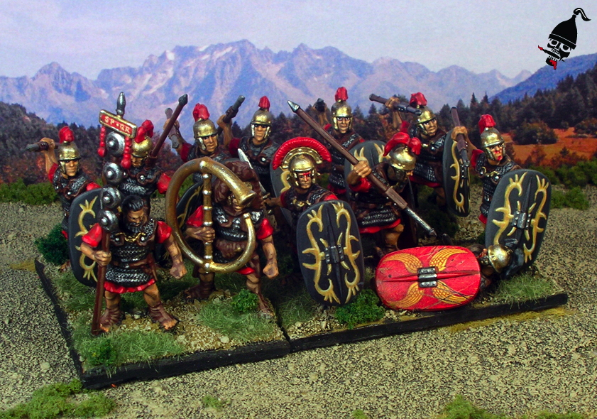 Roman Legionary Cohort from Wargames Factory painted by Neldoreth - An Hour of Wolves & Shattered Shields