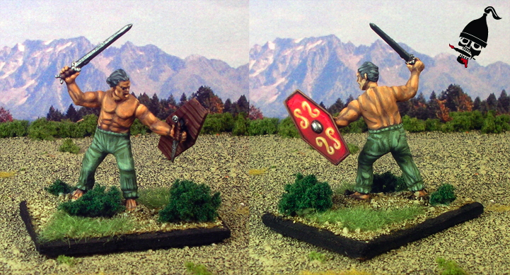 Ancient German Warrior from Wargames Factory painted by Neldoreth - An Hour of Wolves & Shattered Shields
