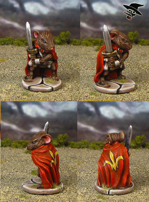 Mice & Mystics Colin the Noble Warrior from Plaid Hat Games painted by Neldoreth - An Hour of Wolves & Shattered Shields