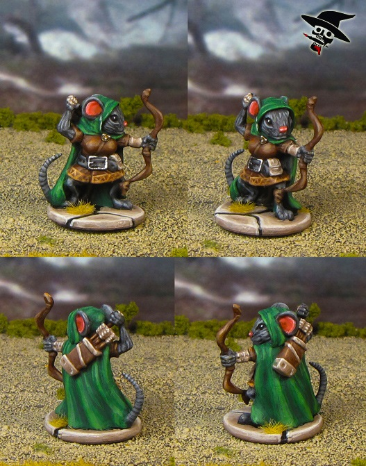 Mice & Mystics Lily the Ranger from Plaid Hat Games painted by Neldoreth - An Hour of Wolves & Shattered Shields