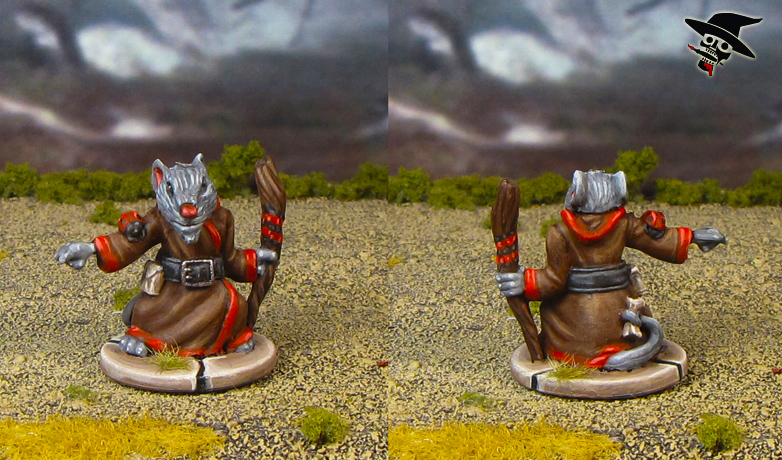 Mice & Mystics Maginos the Mage from Plaid Hat Games painted by Neldoreth - An Hour of Wolves & Shattered Shields