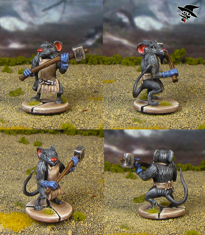 Mice & Mystics Nez the Warrior from Plaid Hat Games painted by Neldoreth - An Hour of Wolves & Shattered Shields