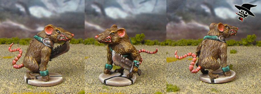 Mice & Mystics rat warrior from Plaid Hat Games painted by Neldoreth - An Hour of Wolves & Shattered Shields