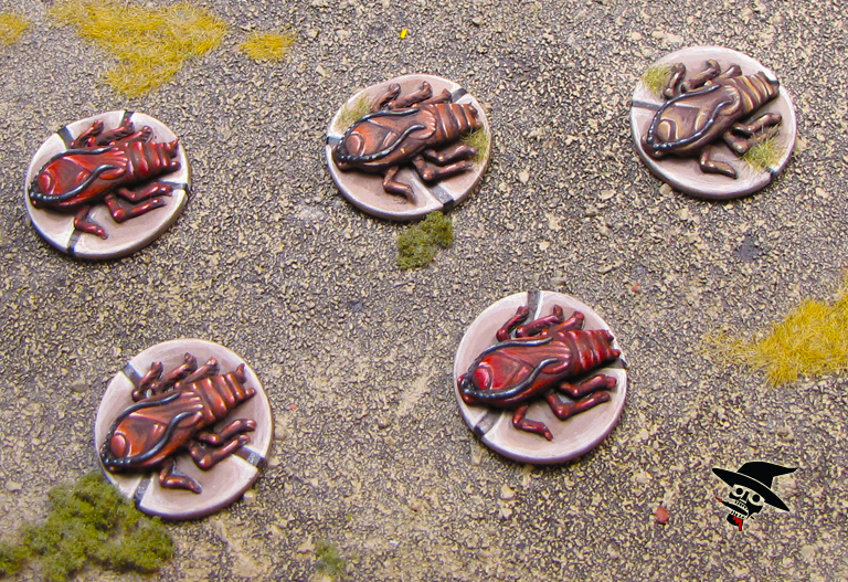 Mice & Mystics roaches from Plaid Hat Games painted by Neldoreth - An Hour of Wolves & Shattered Shields