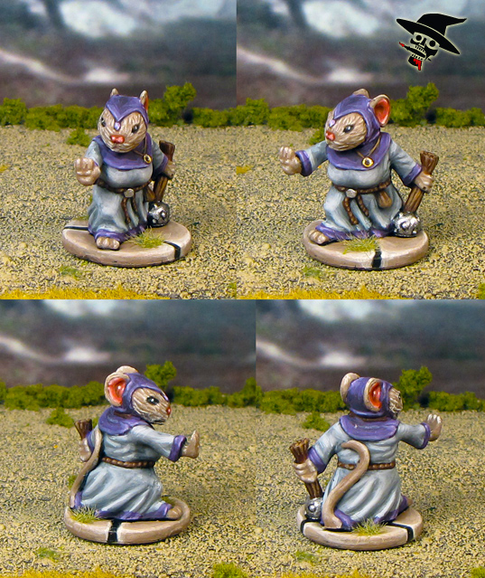 Mice & Mystics Tilda The Cleric from Plaid Hat Games painted by Neldoreth - An Hour of Wolves & Shattered Shields