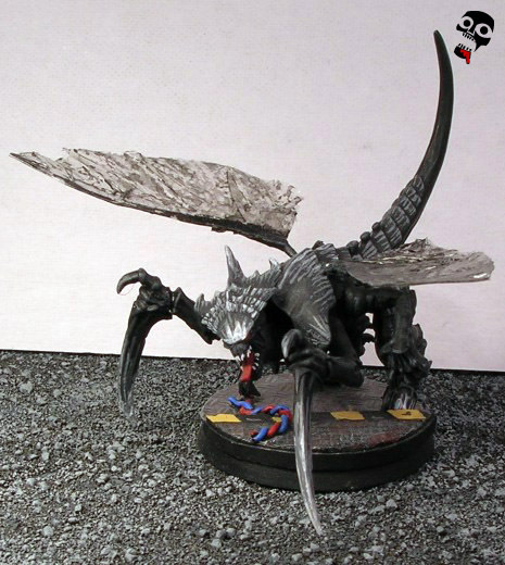 Flying tyranid warrior from Games Workshop painted by Neldoreth - An Hour of Wolves & Shattered Shields