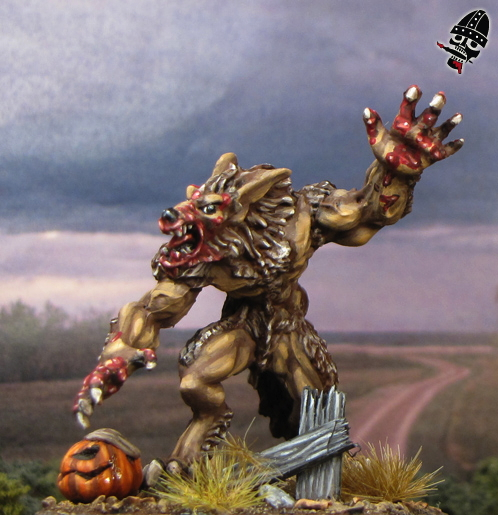 Werewolf from Reaper Miniatures painted by Neldoreth - An Hour of Wolves & Shattered Shields