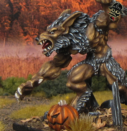 Werewolf from Reaper Miniatures Bones painted by Neldoreth - An Hour of Wolves & Shattered Shields