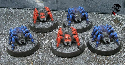 Spider swarm spiders from Games Workshop painted by Neldoreth - An Hour of Wolves & Shattered Shields