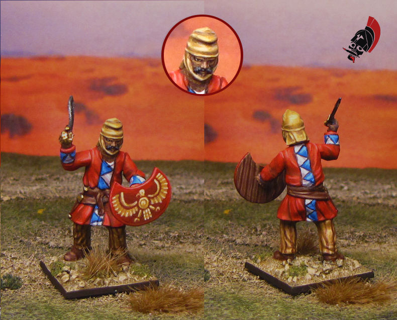 Ancient Persian Peltasts from Wargames Factory painted by Neldoreth - An Hour of Wolves & Shattered Shields