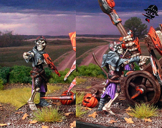 Undead skeleton balefire catapult commander from Mantic Games painted by Neldoreth - An Hour of Wolves & Shattered Shields
